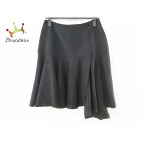 ヨークランド YORKLAND 巻きスカート サイズ11AR M レディース 美品 黒 チェック柄         スペシャル特価 20190628