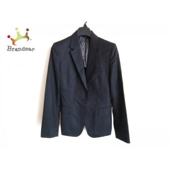 アンタイトル UNTITLED ジャケット サイズ2 M レディース 美品 黒×グレー×ブラウン ストライプ スペシャル特価 20190816