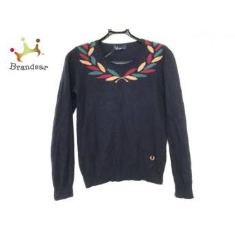 フレッドペリー FRED PERRY 長袖セーター サイズS レディース ネイビー×マルチ スペシャル特価 20190427