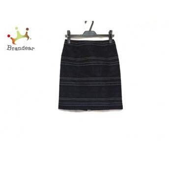 トゥモローランド スカート サイズ36 S レディース 美品 黒×ネイビー×アイボリー ボーダー スペシャル特価 20190330