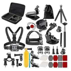 Flameer Gopro基本アクセサリーキット 58個入り 大人気セット スポーツ アクションカメラ対応 収納ボックス付 撮影用品