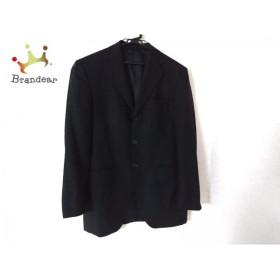パッゾ PAZZO ジャケット メンズ 黒 肩パッド/ストライプ               スペシャル特価 20190528