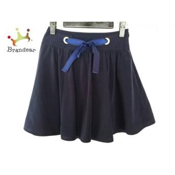 アプワイザーリッシェ ミニスカート サイズ0 XS レディース ダークネイビー×ネイビー リボン スペシャル特価 20190329