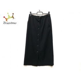 カルヴェン CARVEN 巻きスカート サイズ11 M レディース 美品 黒 ロング丈           スペシャル特価 20190930