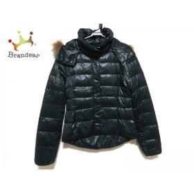 ルシェルブルー ダウンジャケット サイズ38 M レディース ダークグリーン ファー/冬物  値下げ 20190602