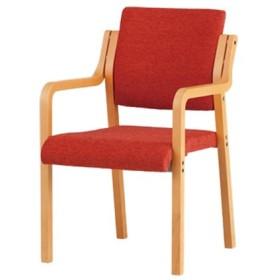 ダイニングチェア 介護チェア 布張り 肘掛 肘付き 介護施設 病院 老人ホーム スタッキングタイプ グループホーム 食堂椅子 天然木 施設 積重可能 FVM-5A