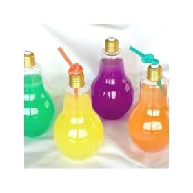 電球ボトル 500ml wide 【広口タイプ】 キラキラ 光る電球 パーティーグッズ インテリア 装飾 LED プレゼント 景品 インスタ SNS映え クリスマス