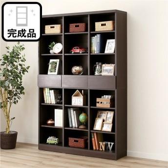 オープン書棚(アデル120BS DBR) ニトリ 『配送員設置』 『5年保証』