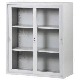 soldout 引戸書庫 キャビネット 引き違い書庫 引違い書庫 本棚 書棚 3段 A4 アクリル 会社用 棚 TJ-H90G