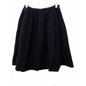 【中古】ノーリーズ Nolley's スカート ギャザー 膝丈 36 紺 レディース