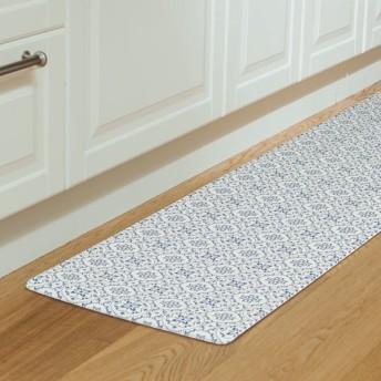 キッチン用フロアマット(タイル BL 45X220) ニトリ 『玄関先迄納品』