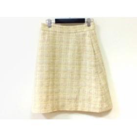 アベニールエトワール Aveniretoile スカート サイズ38 M レディース アイボリー×ベージュ ツイード/ラメ【中古】