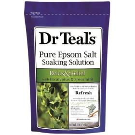 ティールズ(Dr Teal's) 入浴剤 フレグランス エプソムソルト ユーカリ&スペアミント 453g 455007012 日用品 バスソルト