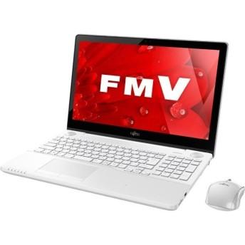 ノートパソコン office付き 新品 同様 富士通 FMV LIFEBOOK AH77/B1 FMVA77B1W KINGSOFT Office 15.6型 フルHD 1TB Windows10 Core i7 7700HQ 安い 訳あり