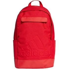 アディダス(adidas) クラシック ロゴ バックパック スカーレット/ホワイト Mサイズ DUW62 DM7674 リュックサック デイパック スポーツバッグ 鞄