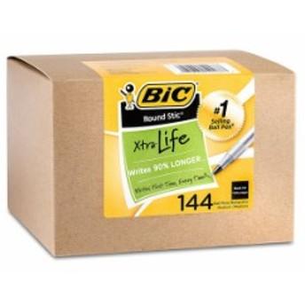 ビック USA BIC USA 144本 エクストラライフ ラウンドスティック ボールペン ミディアムポイント1mm