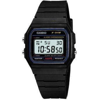 CASIO カシオ 腕時計 スタンダードウォッチ メンズ デジタル ブラック F-91W-1JF ( デジタル腕時計 メンズウォッチ チープカシオ )