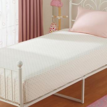 ベッド用ボックスシーツ シングル(プチドット) ニトリ 『玄関先迄納品』