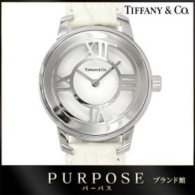 ティファニー TIFFANY&CO. ニューアトラス グリル レディース 腕時計 ホワイト 白 文字盤 クォーツ ウォッチ