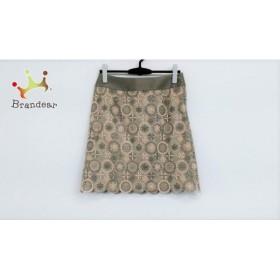 マルティニーク martinique スカート サイズ2 M レディース グレー×ベージュ 刺繍/レース       スペシャル特価 20190608