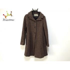 ホコモモラ JOCOMOMOLA コート サイズ40 XL レディース 黒×ブラウン 冬物     スペシャル特価 20190924