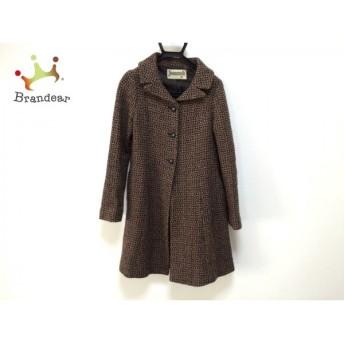ホコモモラ JOCOMOMOLA コート サイズ40 XL レディース 黒×ブラウン 冬物 値下げ 20190904