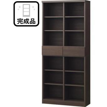 オープン書棚(アデル80BS DBR) ニトリ 『配送員設置』 『5年保証』