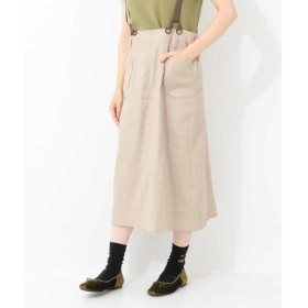 Jocomomola / ホコモモラ ストレッチ チノ 2Wayストレートライン 吊りスカート