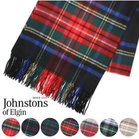 JOHNSTONS ジョンストンズ カシミア ストール 大判 タータンチェック 190×70cm WA000056