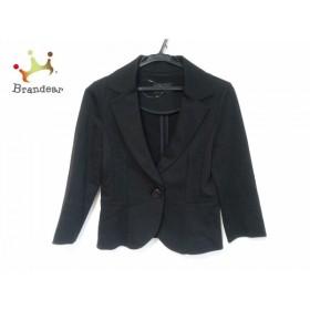 クイーンズコート QUEENS COURT ジャケット サイズ2 M レディース 黒 肩パッド         スペシャル特価 20190808