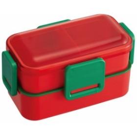 スケーター/PFLW4/2段ふわっと弁当箱●マルシェカラー トマト●//ランチボックス2段ランチ2段弁当箱お