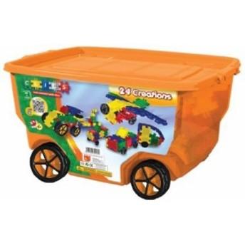 Clics 400 piece Wheeled Bin ブロック おもちゃ