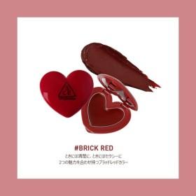 【3CE/STYLE NANDA】#BRICK RED☆★3CE HEART POT LIP★☆ハートポットリップ★リップバーム★韓国コスメ★スタイルナンダ★【正規品】