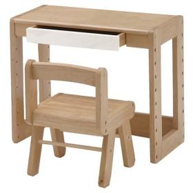 天然木のキッズチェアー・デスクセット 子ども 幼児 子供部屋 学習 塾 学童 教室 天板耐荷重15kg チェア耐荷重25kg