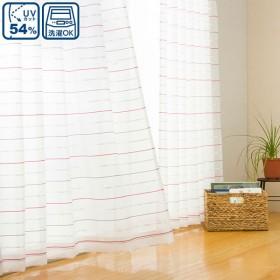 (1枚入り)レースカーテン(ミエル ローズ 100X108X1) ニトリ 『1年保証』 『玄関先迄納品』
