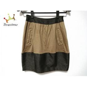 ヤンガニー yangany スカート サイズ36 S レディース 美品 ブラウン×黒                 スペシャル特価 20190403