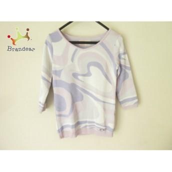 レディ Rady 七分袖セーター サイズF レディース パープル×アイボリー×ピンク スペシャル特価 20190914