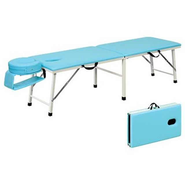 高田ベッド サイズ選択可能 ポータブルベット 折りたたみベッド 差込式フェイスマット・アームマット付 有孔ムーブフェイス TB-109U