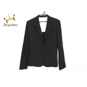 アンタイトル UNTITLED ジャケット サイズ2 M レディース 黒×パープル 肩パッド/春・秋物             スペシャル特価 20190308