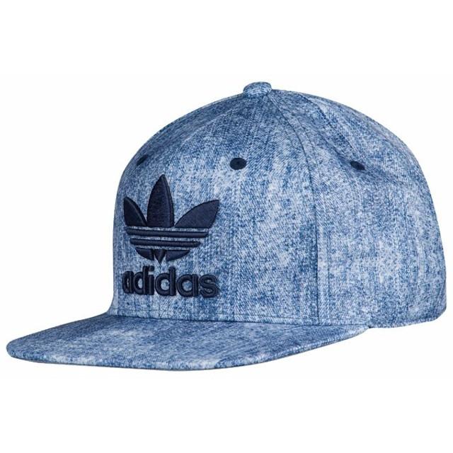 7744030fcac アディダス オリジナルス キャップ 青 ブルー デニム adidas ORIGINALS Trefoil Plus Snapback cap  BH7005