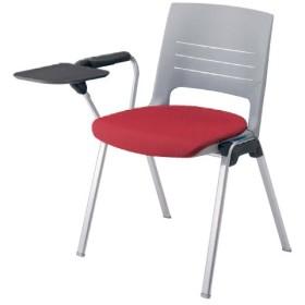 スタッキングチェア 片肘付き 送料無料 メモ台付き タブレット付き オフィスチェア ミーティングチェア ロッキング カラフル 椅子 イス セミナー HD11BT-FB