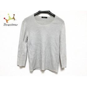アクアスキュータム Aquascutum 長袖セーター サイズ8S レディース ライトグレー ラメ           スペシャル特価 20190423