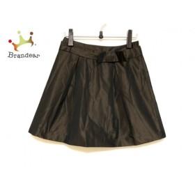 ドゥーズィエム DEUXIEME CLASSE スカート サイズ38 M レディース 美品 ダークブラウン リボン           スペシャル特価 20190331