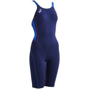 アシックス(asics) ウイメンズ スパッツ ネイビー×ブルー ASL810 5042 レディース競泳水着 トレーニング 練習用