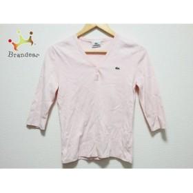 ラコステ Lacoste 七分袖セーター サイズ38 M レディース ピンク           スペシャル特価 20190426