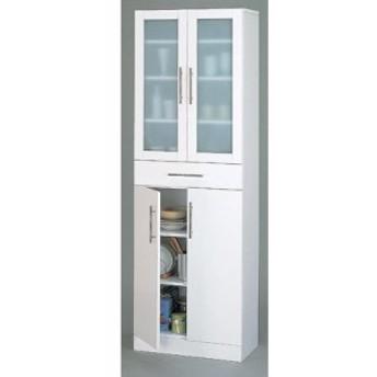 【送料無料】 高さ180cmの食器棚 ホワイトカラーの食器棚 幅60cmの食器棚【代引不可】 収納家具 キッチン収納