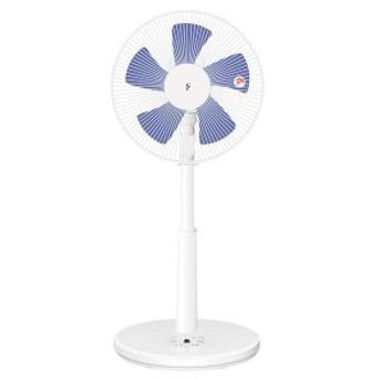 メカ式 リビング扇風機 ホワイト×ブルー調 ALT-AG303-WA