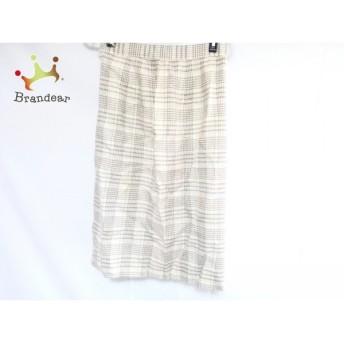 ダックス DAKS スカート レディース アイボリー×ダークブラウン チェック柄 スペシャル特価 20190127