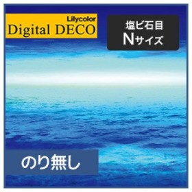 壁紙 のり無し壁紙 リリカラ デジタル・デコ Nature World Ocean Lights 塩ビ石目 NサイズD8017WN/D8019WN