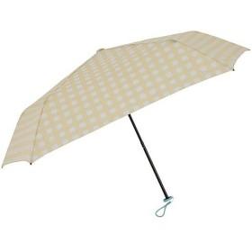 スヌーピー 折りたたみ傘 軽量 100g かくれんぼチェック(イエロー) 5本骨 50cm 58093 雨具 レイングッズ 自転車 通勤通学 アウトドア
